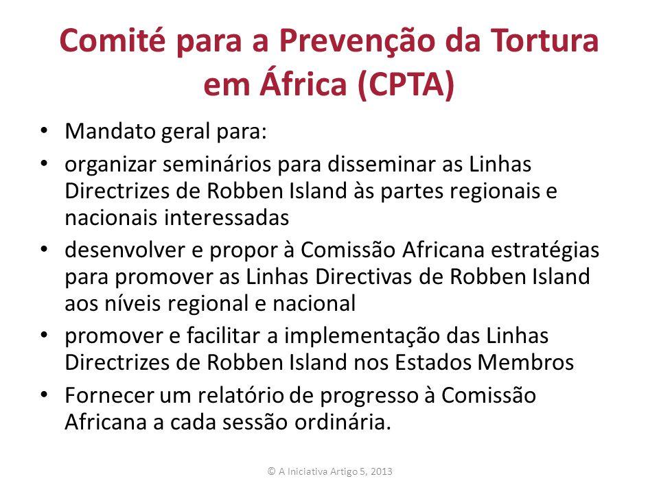Comité para a Prevenção da Tortura em África (CPTA)
