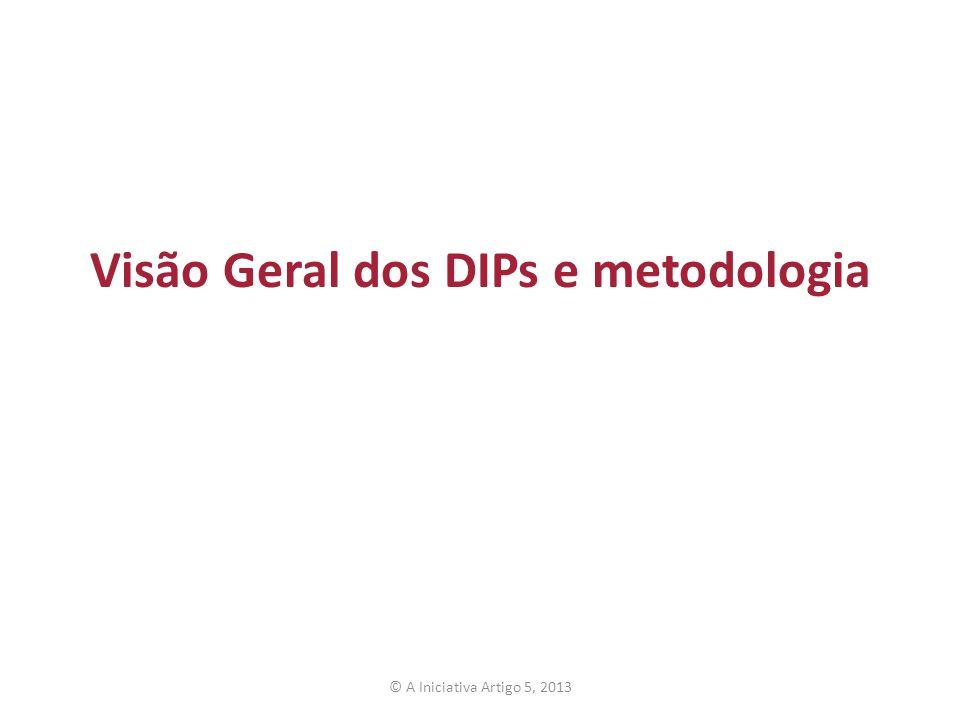 Visão Geral dos DIPs e metodologia