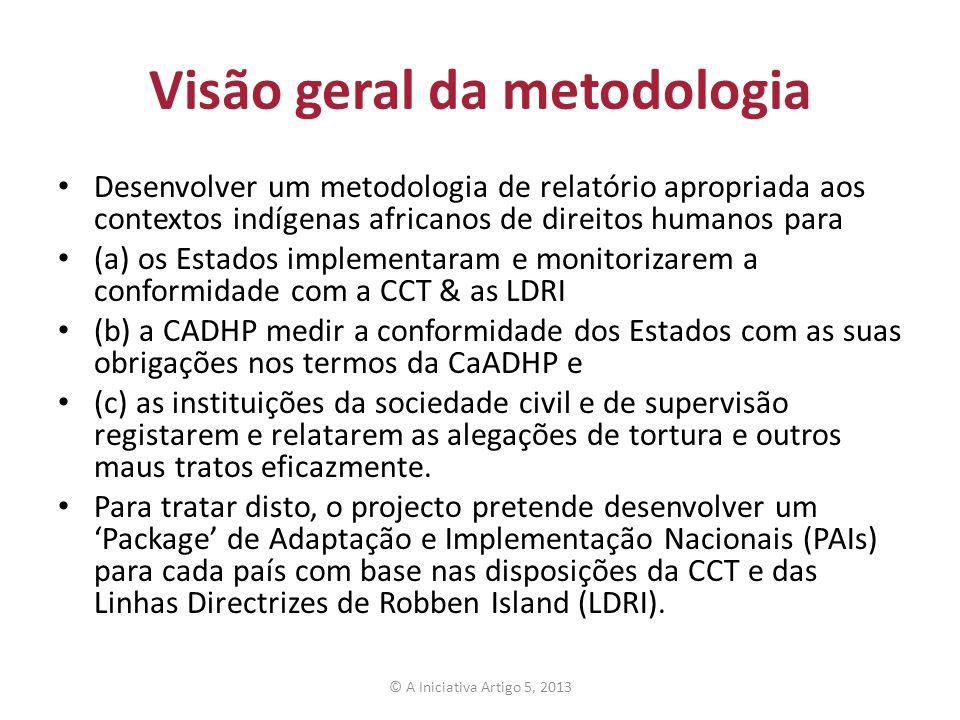 Visão geral da metodologia