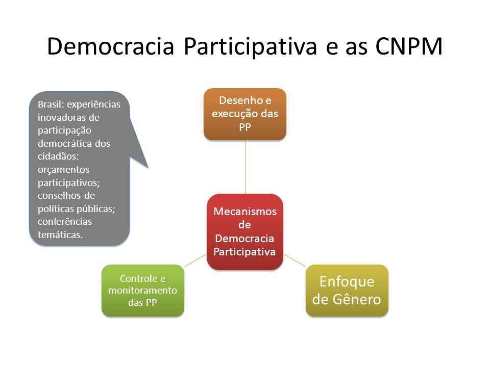 Democracia Participativa e as CNPM