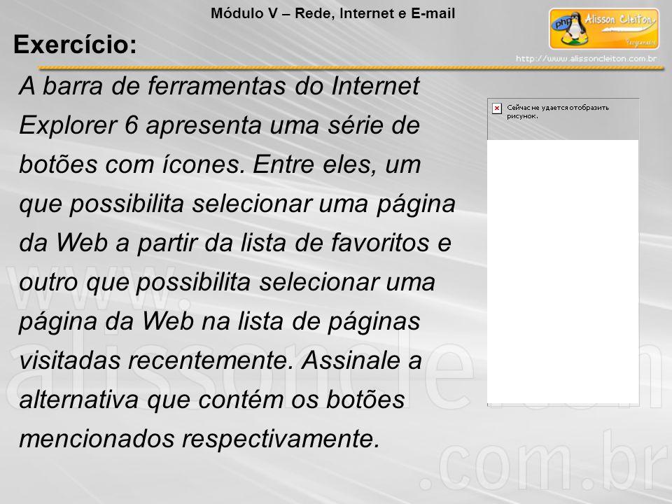 Módulo V – Rede, Internet e E-mail
