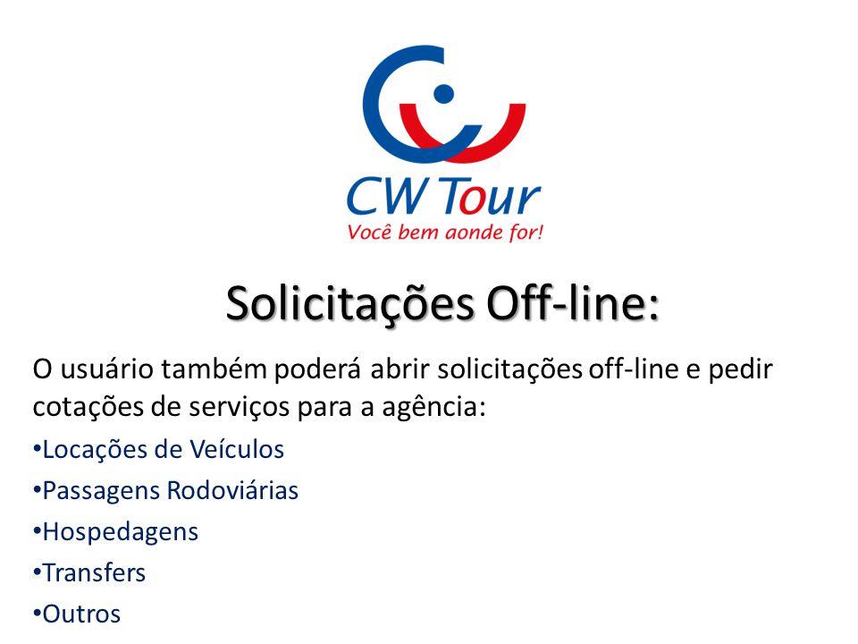 Solicitações Off-line: