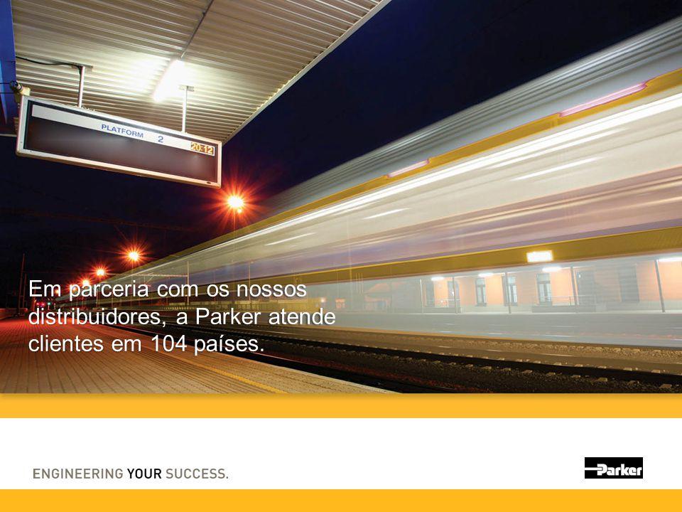 Em parceria com os nossos distribuidores, a Parker atende clientes em 104 países.