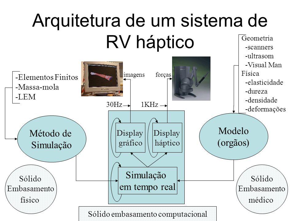 Arquitetura de um sistema de RV háptico