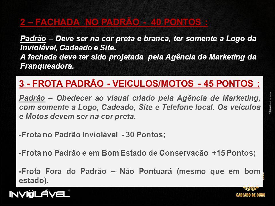 2 – FACHADA NO PADRÃO - 40 PONTOS :
