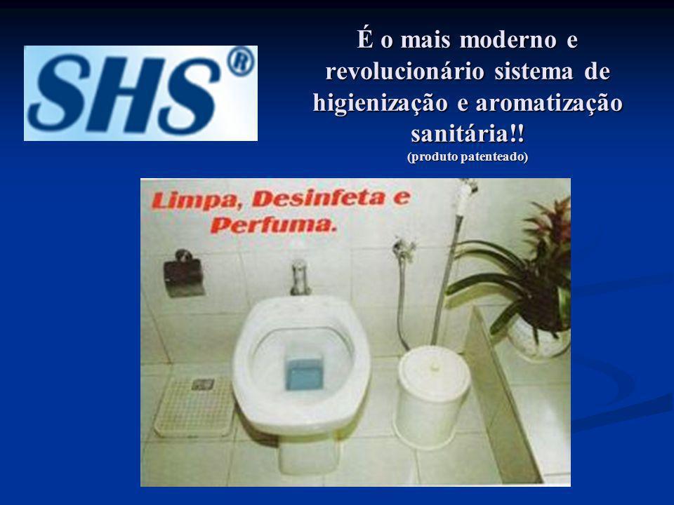 É o mais moderno e revolucionário sistema de higienização e aromatização sanitária!.