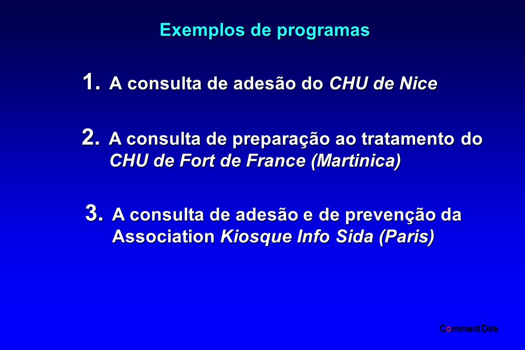 A consulta de adesão do CHU de Nice