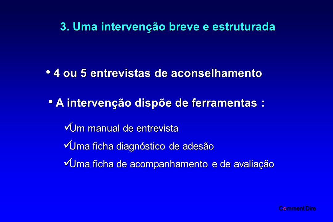 3. Uma intervenção breve e estruturada