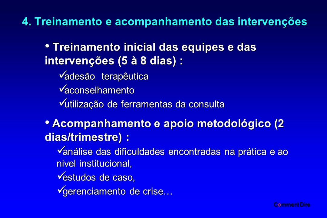 4. Treinamento e acompanhamento das intervenções