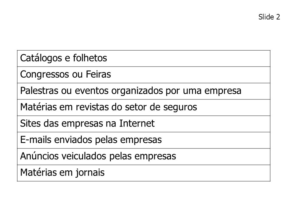 Palestras ou eventos organizados por uma empresa