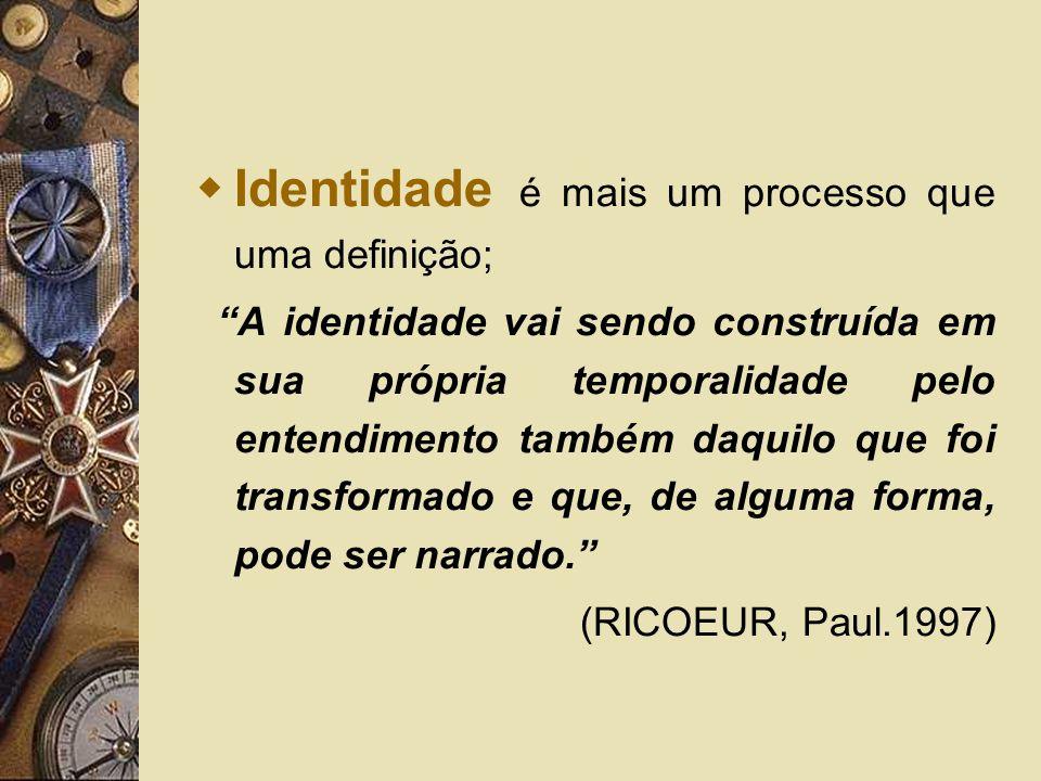 Identidade é mais um processo que uma definição;