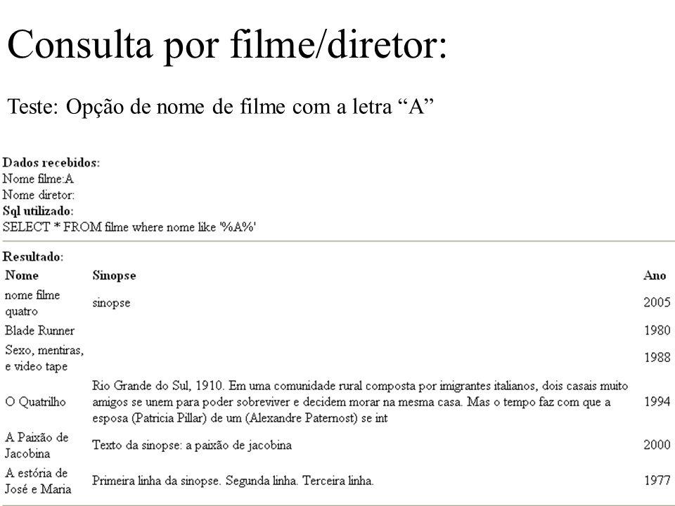 Consulta por filme/diretor: