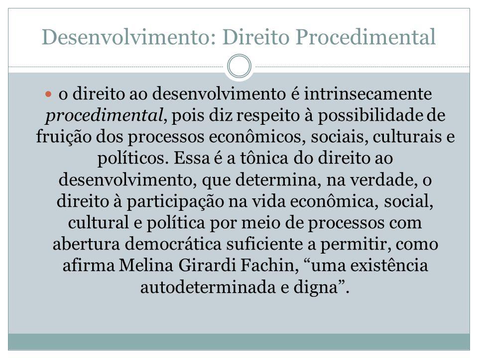Desenvolvimento: Direito Procedimental