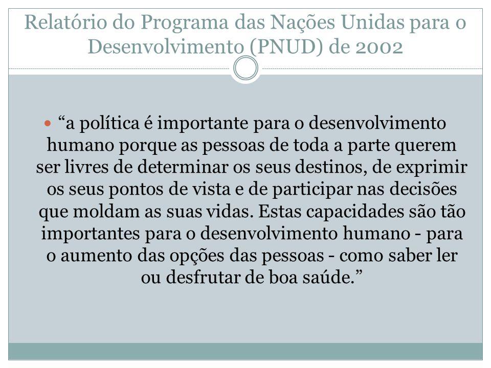 Relatório do Programa das Nações Unidas para o Desenvolvimento (PNUD) de 2002