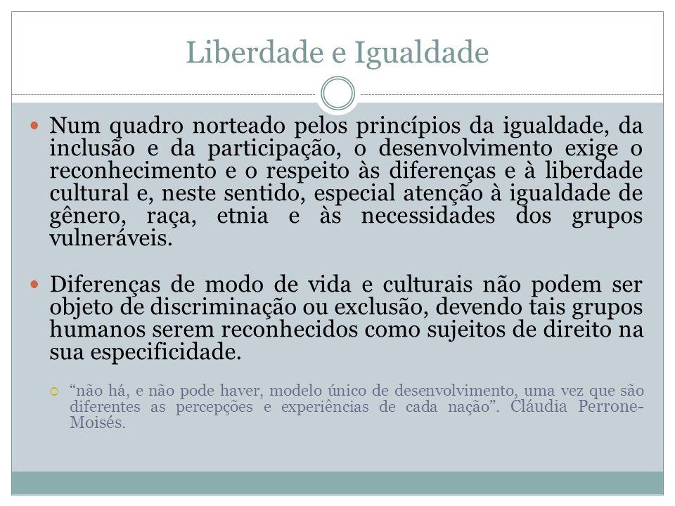 Liberdade e Igualdade