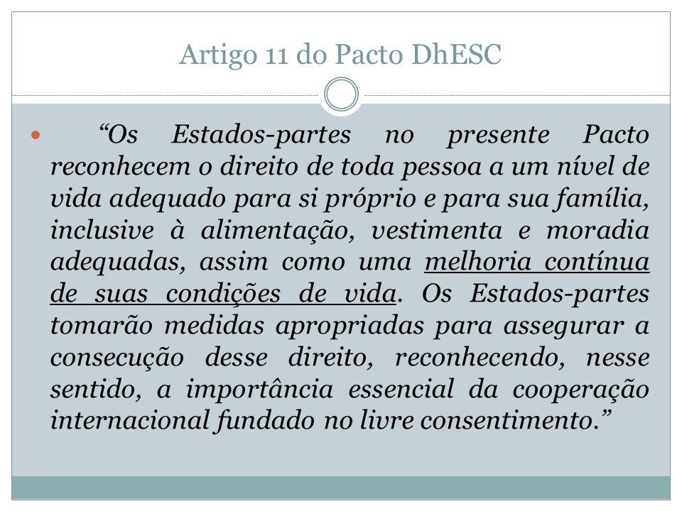 Artigo 11 do Pacto DhESC