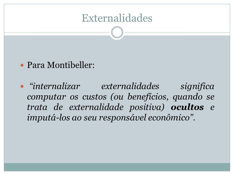 Externalidades Para Montibeller: