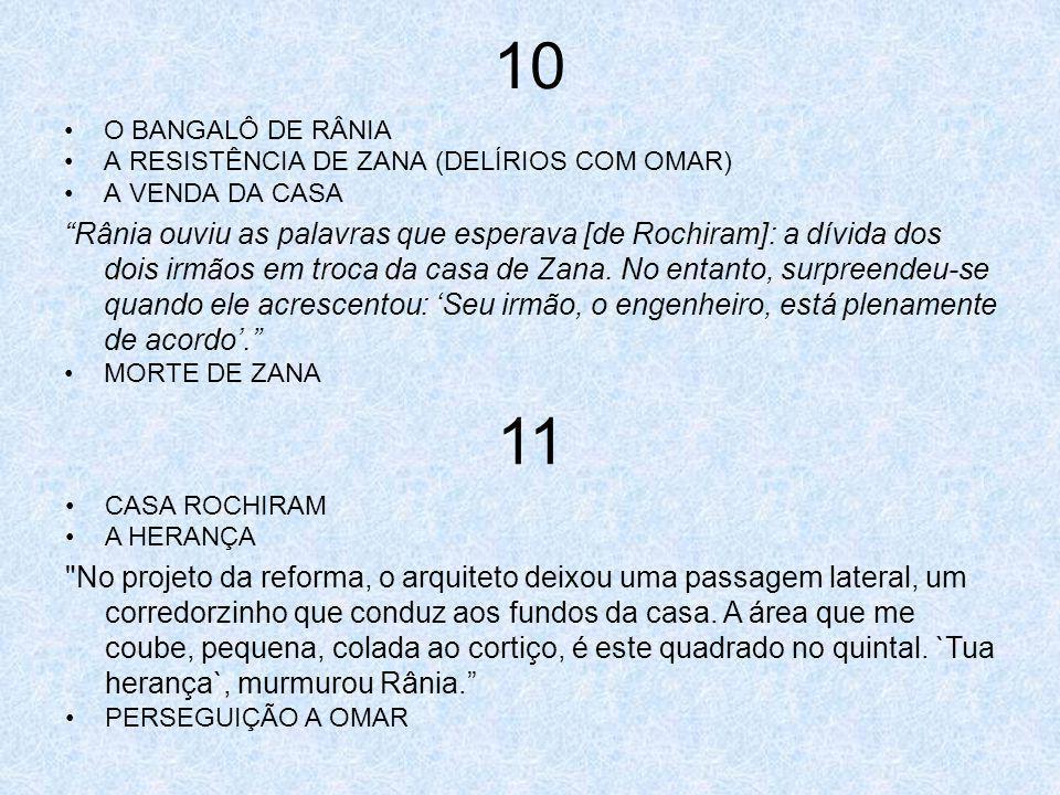 10 O BANGALÔ DE RÂNIA. A RESISTÊNCIA DE ZANA (DELÍRIOS COM OMAR) A VENDA DA CASA.