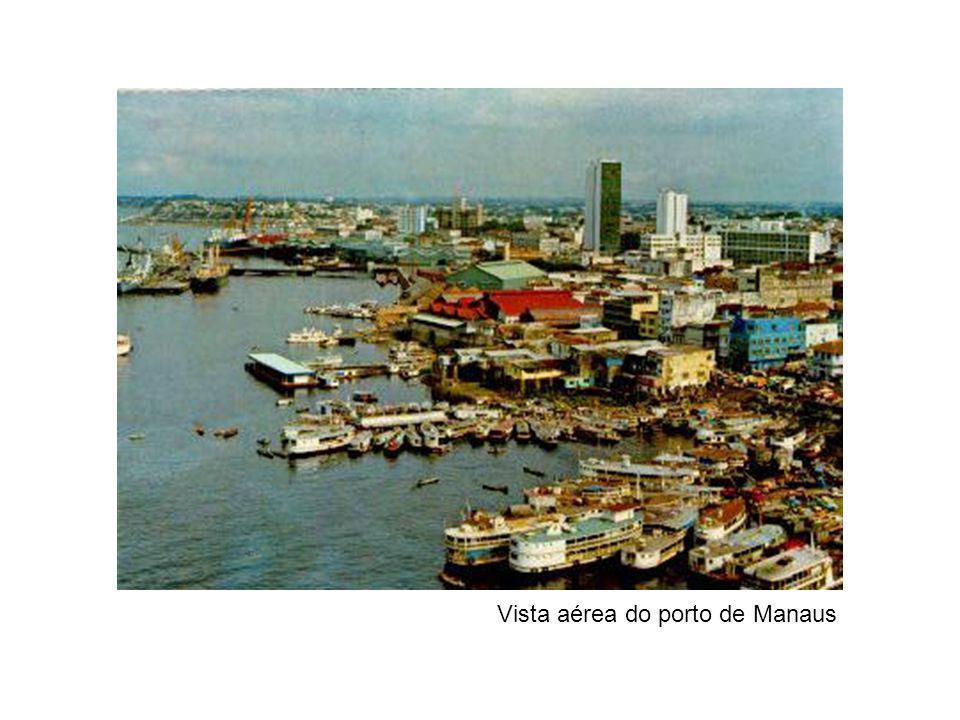 Vista aérea do porto de Manaus
