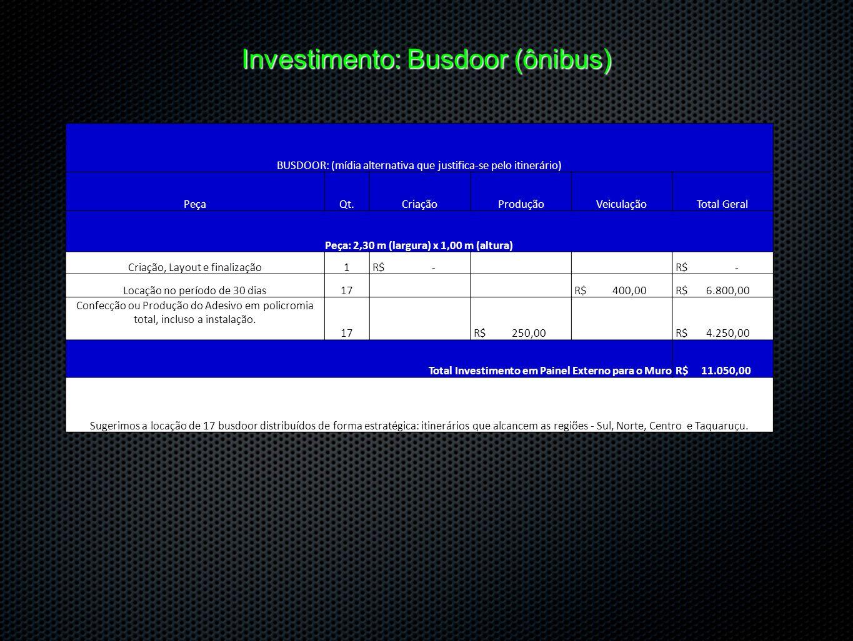 Investimento: Busdoor (ônibus)