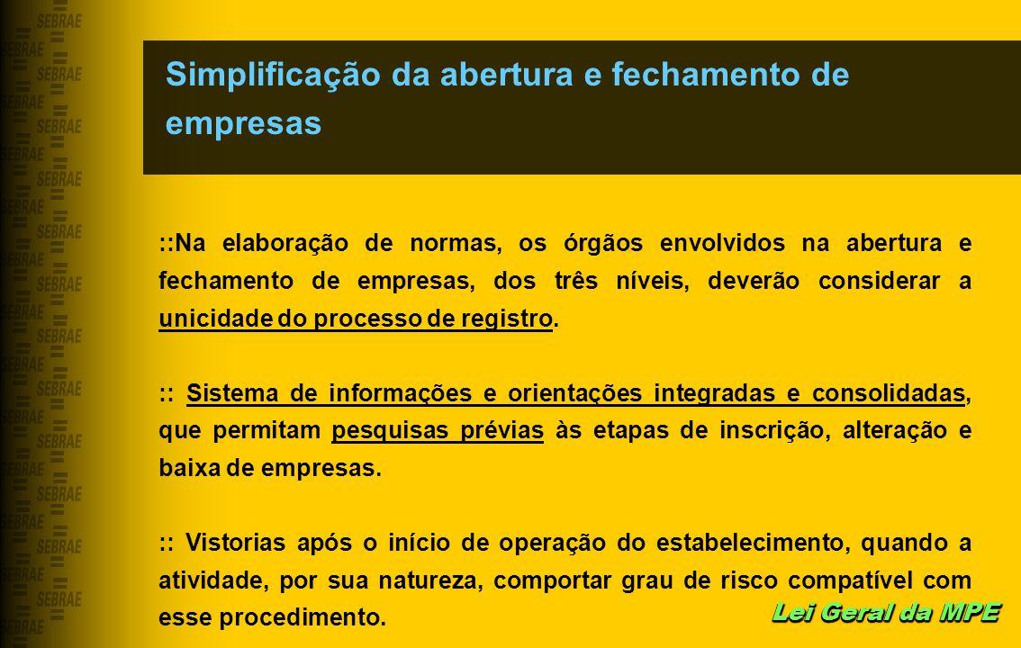 Simplificação da abertura e fechamento de empresas