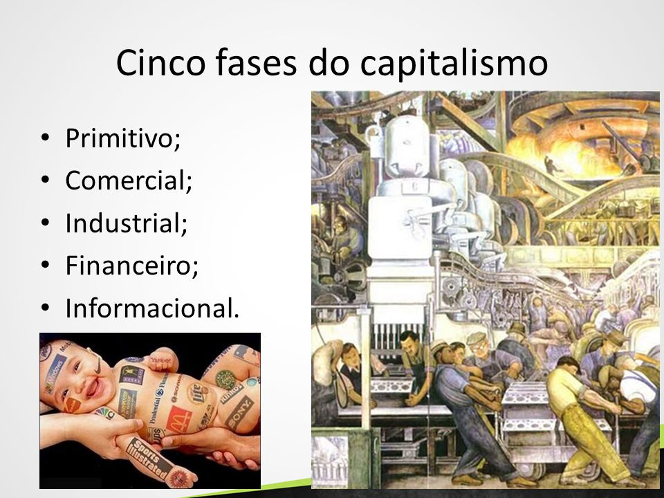 Cinco fases do capitalismo