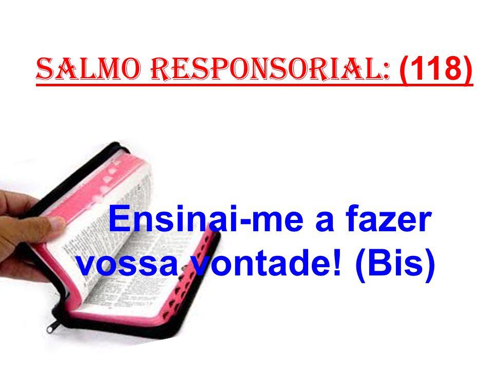salmo responsorial: (118) Ensinai-me a fazer vossa vontade! (Bis)