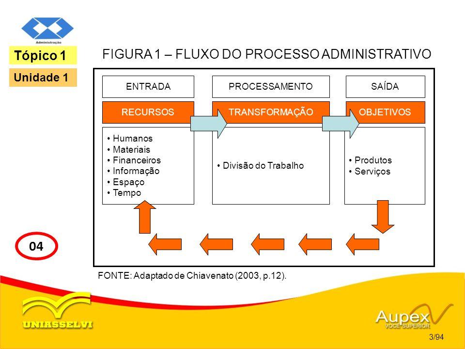 FIGURA 1 – FLUXO DO PROCESSO ADMINISTRATIVO
