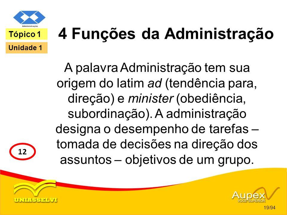 4 Funções da Administração
