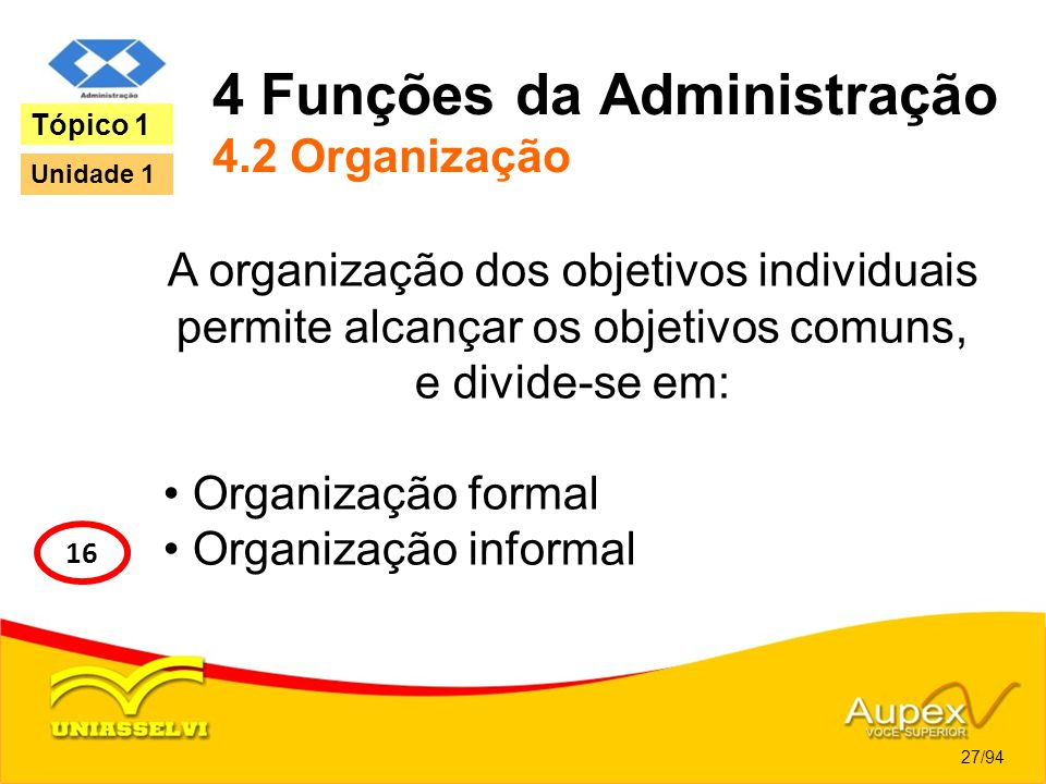 4 Funções da Administração 4.2 Organização