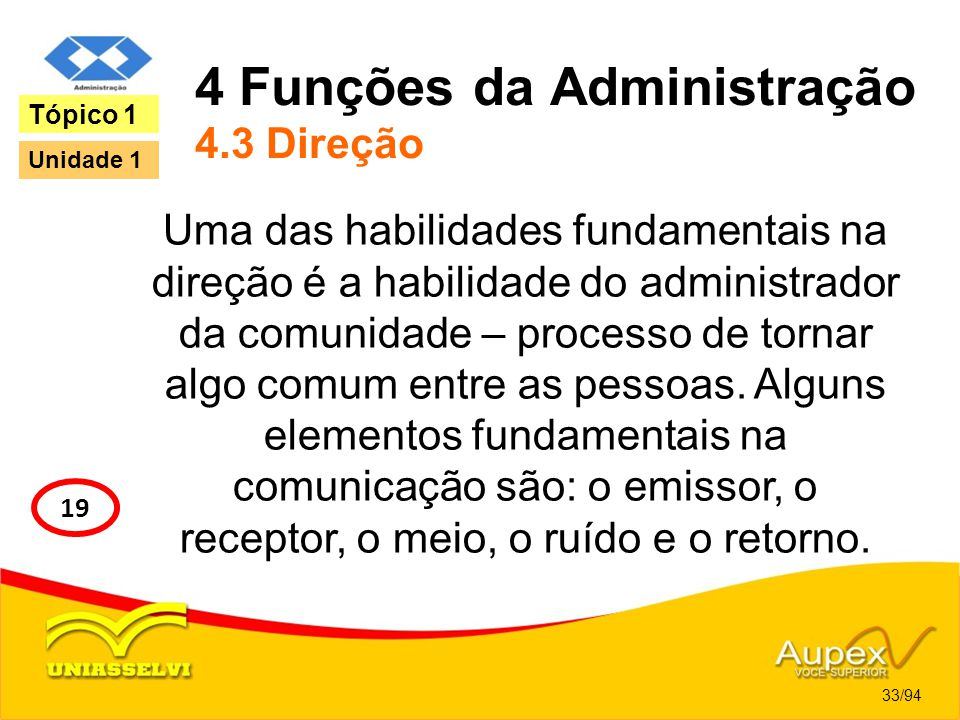 4 Funções da Administração 4.3 Direção