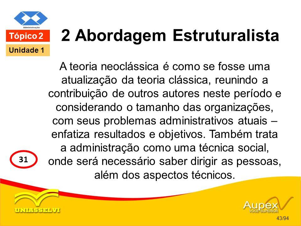 2 Abordagem Estruturalista