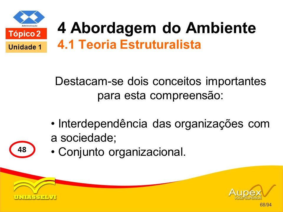 4 Abordagem do Ambiente 4.1 Teoria Estruturalista