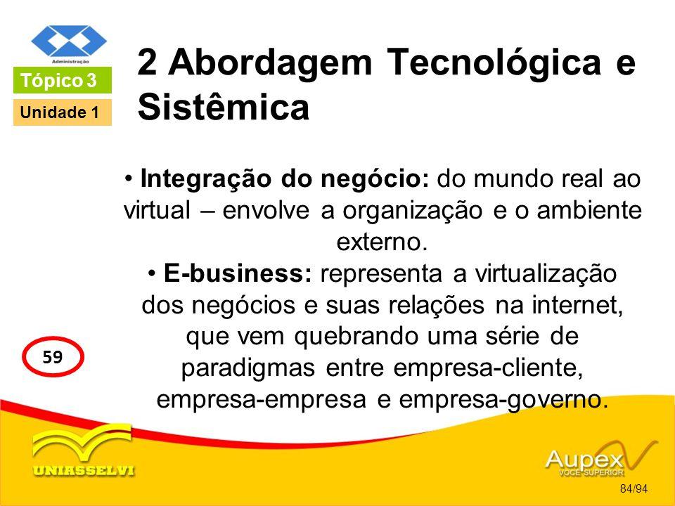 2 Abordagem Tecnológica e Sistêmica