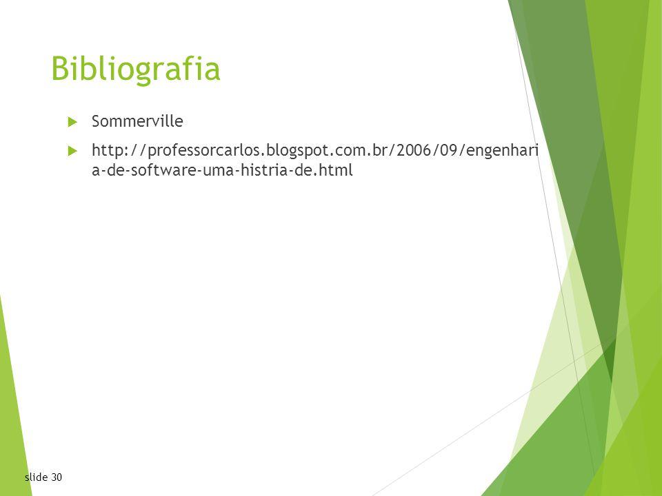 Bibliografia Sommerville