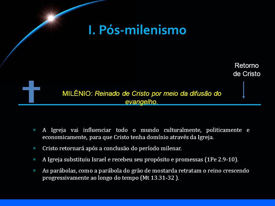 MILÊNIO: Reinado de Cristo por meio da difusão do evangelho.
