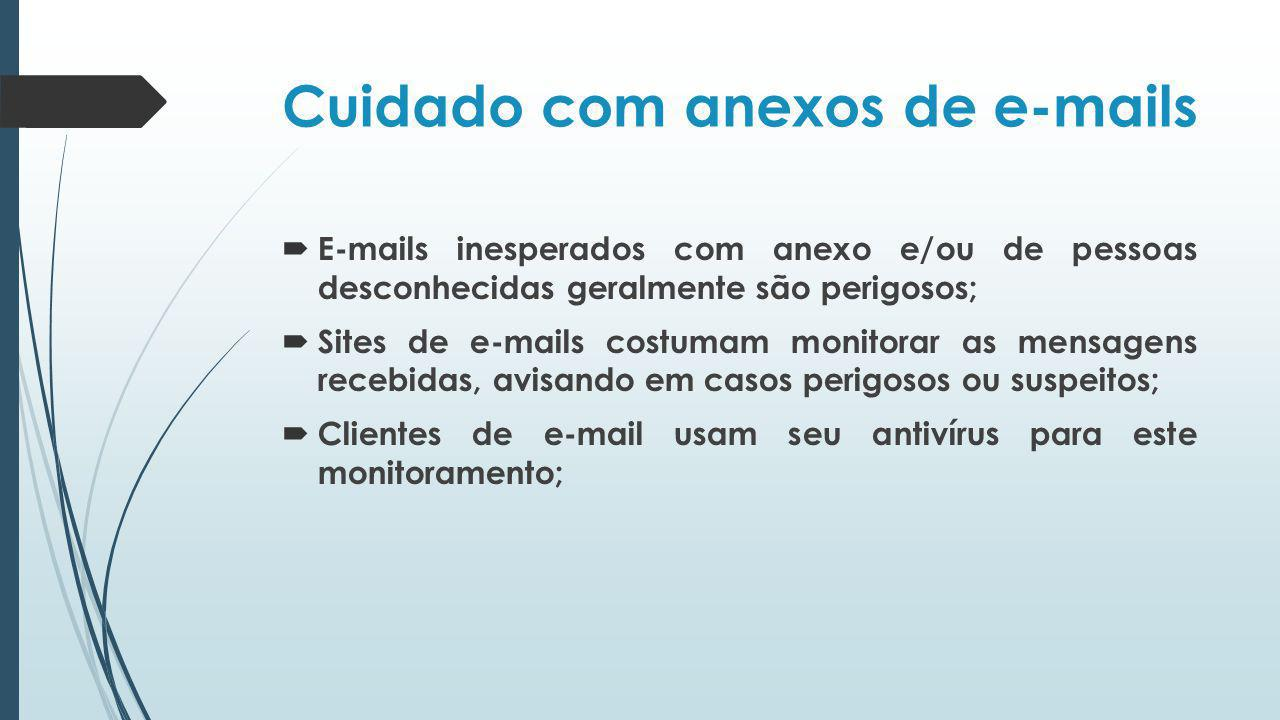 Cuidado com anexos de e-mails