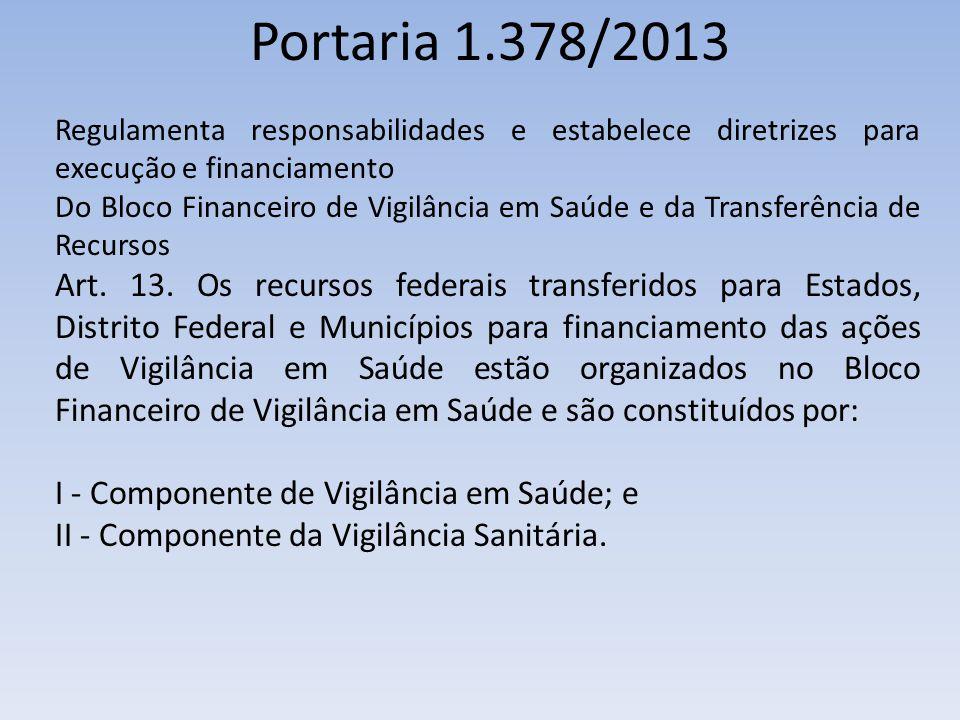 Portaria 1.378/2013 Regulamenta responsabilidades e estabelece diretrizes para execução e financiamento.