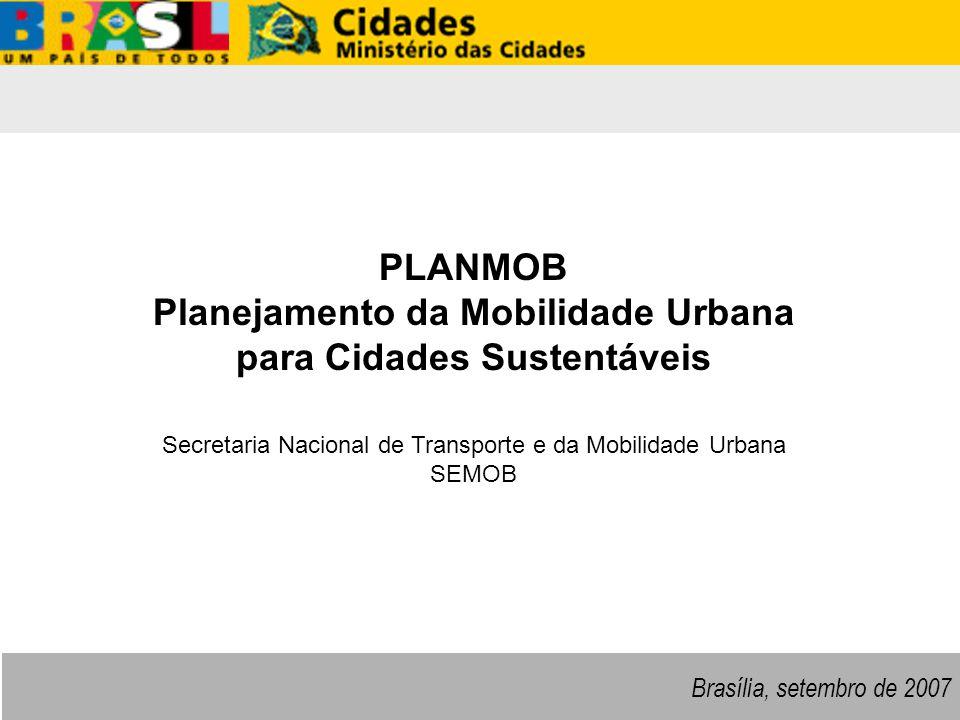 Planejamento da Mobilidade Urbana para Cidades Sustentáveis