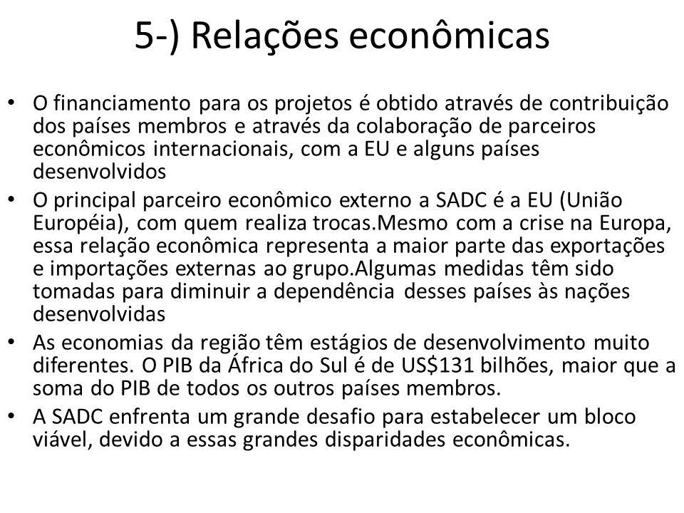 5-) Relações econômicas