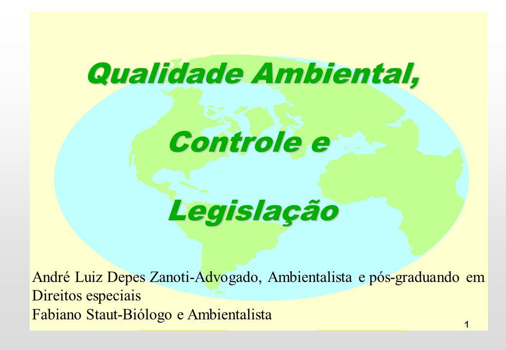 Qualidade Ambiental, Controle e Legislação