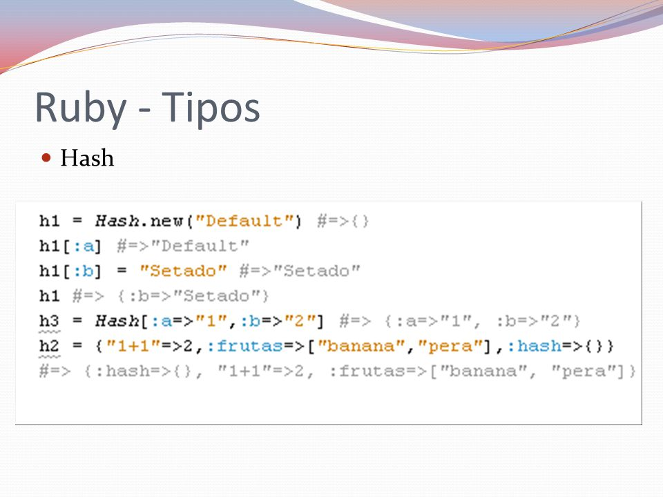Ruby - Tipos Hash