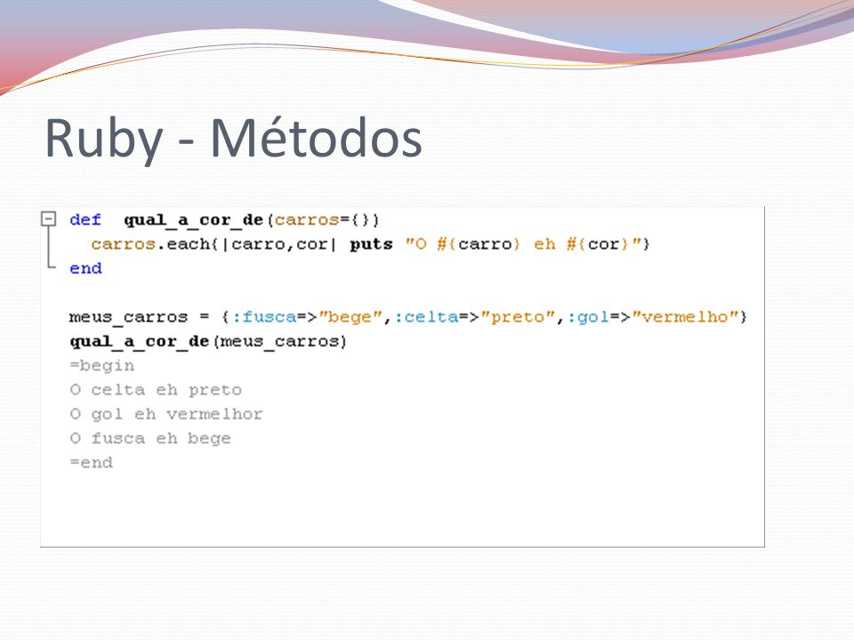 Ruby - Métodos