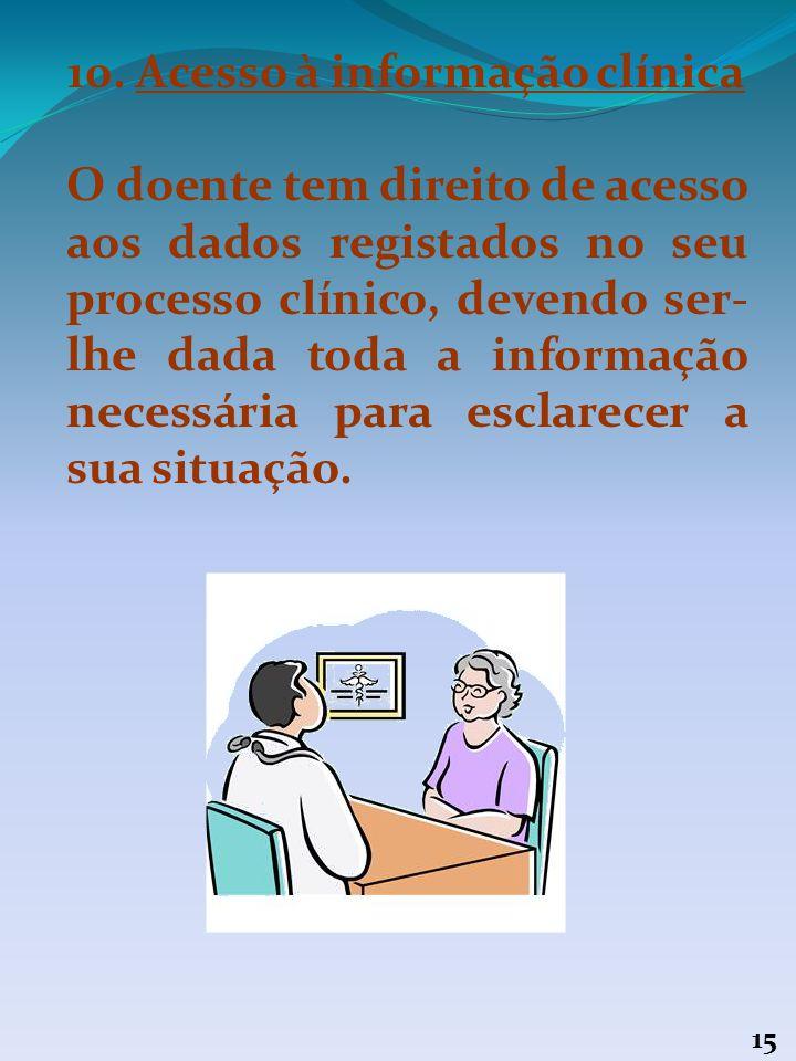 10. Acesso à informação clínica