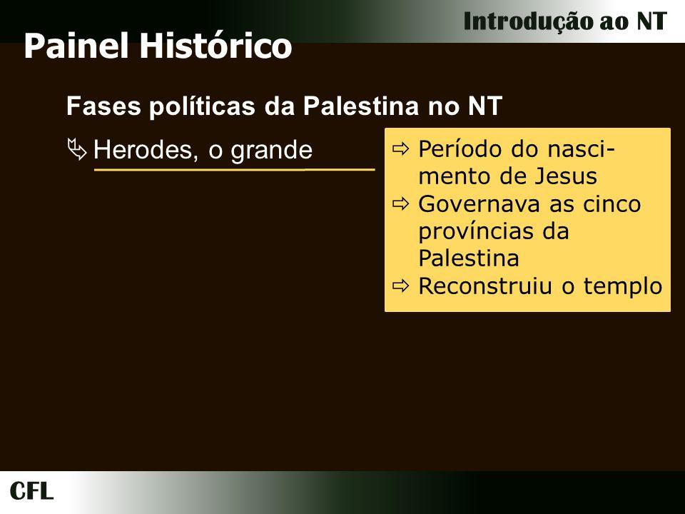 Painel Histórico Fases políticas da Palestina no NT Herodes, o grande