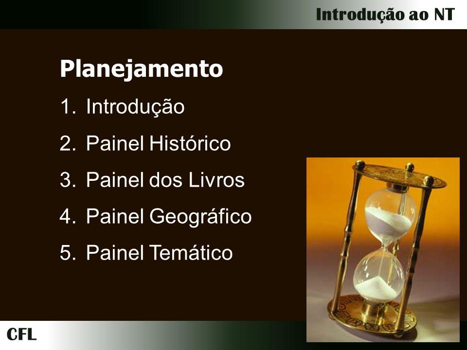 Planejamento Introdução Painel Histórico Painel dos Livros