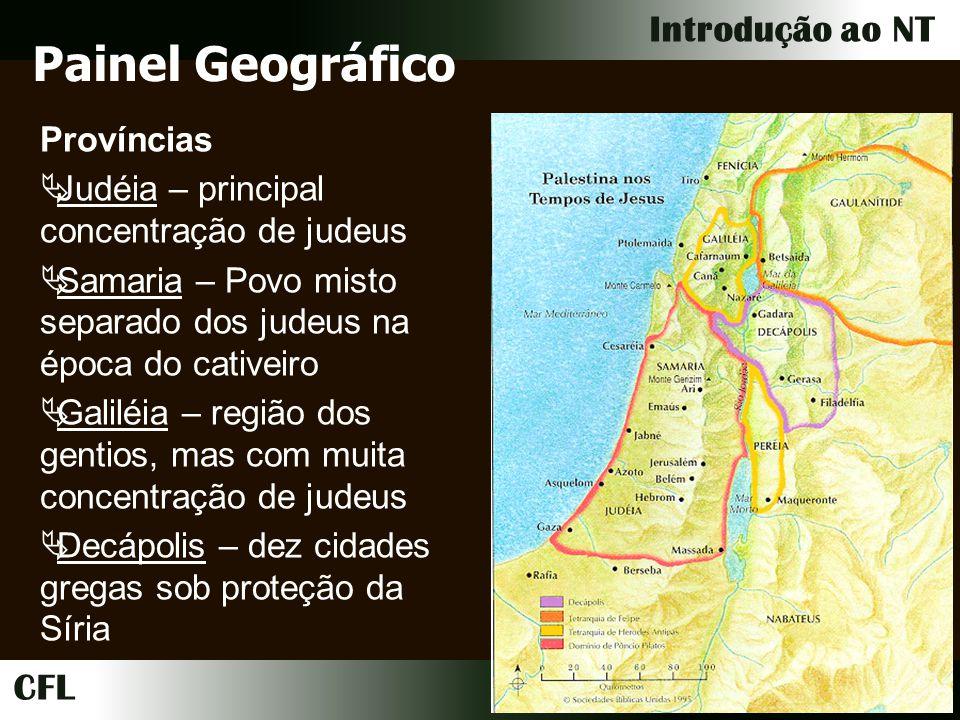 Painel Geográfico Províncias Judéia – principal concentração de judeus