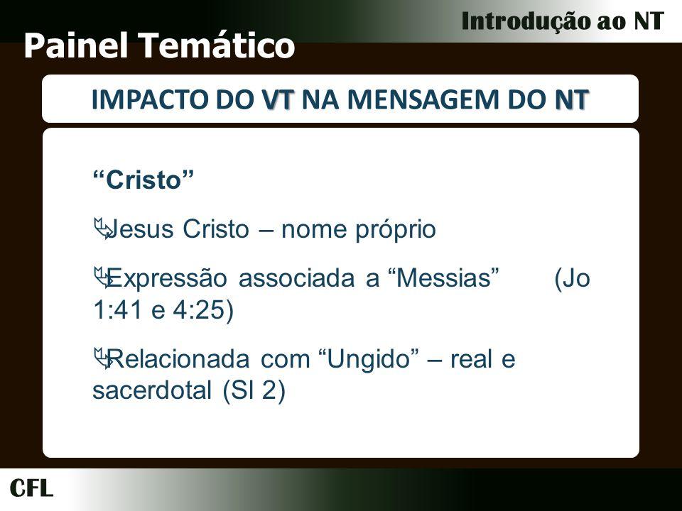 IMPACTO DO VT NA MENSAGEM DO NT