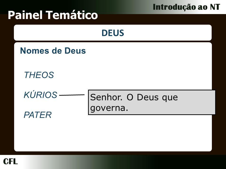 Painel Temático DEUS Nomes de Deus THEOS KÚRIOS PATER