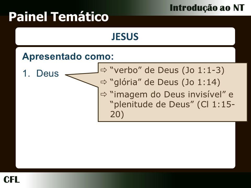 Painel Temático JESUS Apresentado como: Deus